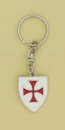 Knights Templar Enamelled Shield Key Ring - KR0764
