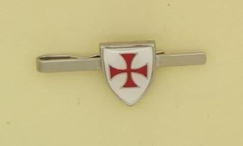 Knights Templar Enamelled Shield Tie Bar - TB0758