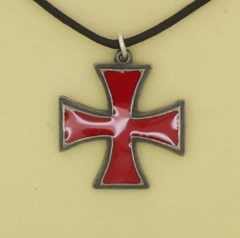 Knights Templar Pendant - Red Cross Pattee - P0568