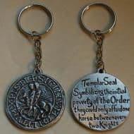 Knights Templar Seal Keyring - KR0645