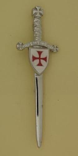 Knights Templar Shield Enamelled Kilt Pin -  KP0760