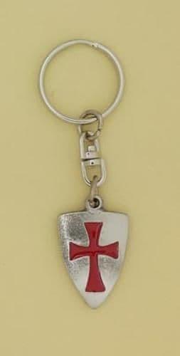 Knights Templar Shield Keyring - KR0831