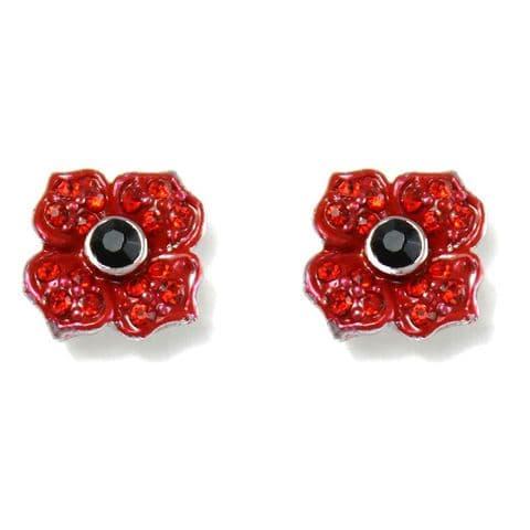 Poppy Stud Earrings 10mm