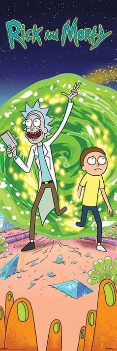 Rick and Morty (Portal)  Door Poster