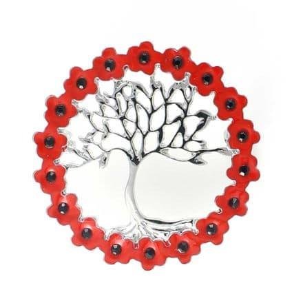 Tree of life in poppy wreath 35mm