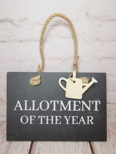 'Allotment Of The Year' Slate Plaque