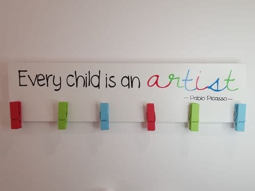 'Every Child Is An Artist' Drawing Display Plaque