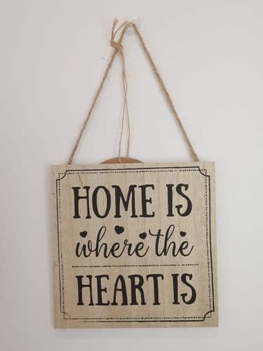 'Home Is Where The Heart Is' Plaque