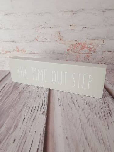 'The Time Out Step' Wooden Block