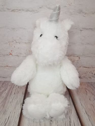 "8"" White Fluffy Unicorn"