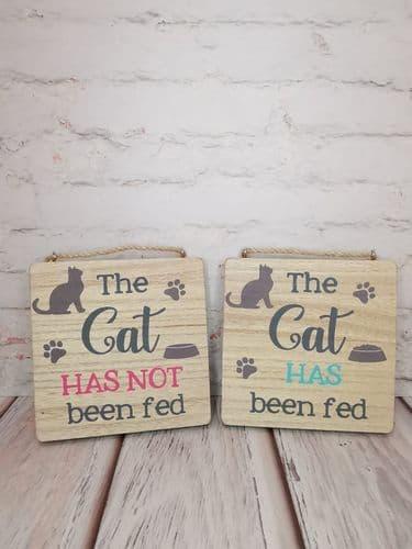 Cat Feeding Plaque