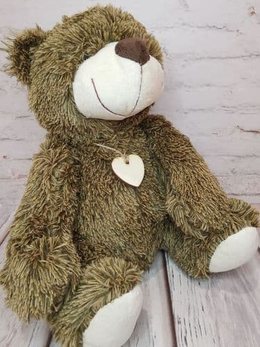 Dark Brown Fuzzy Bear Doorstop