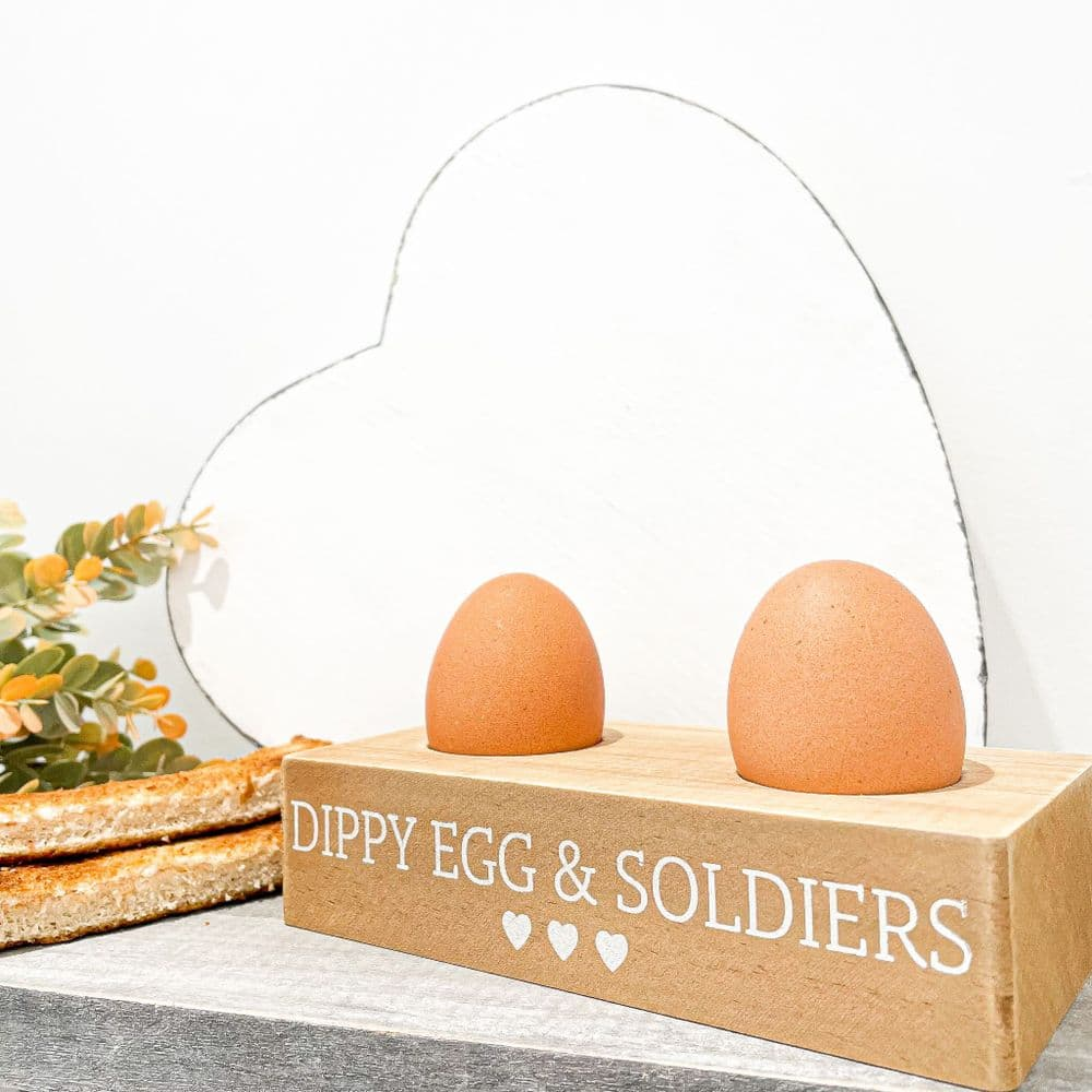 Dippy Egg & Soldiers Wooden Holder