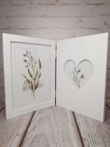 Folding White Photo Frame