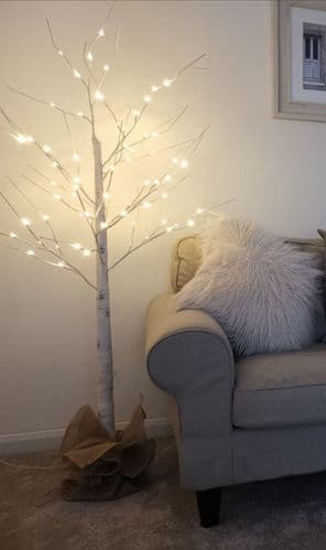 LED White Birch Effect Tree