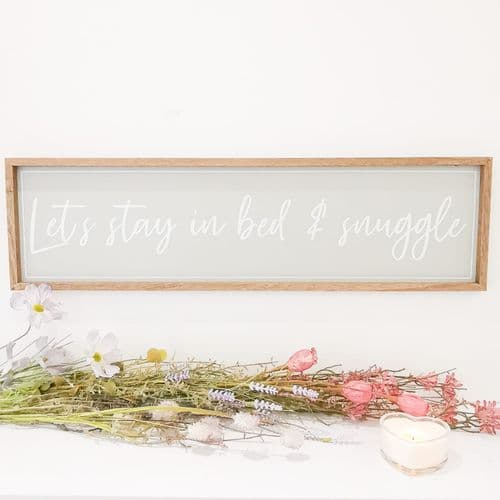 Let's Stay In Bed & Snuggle Plaque