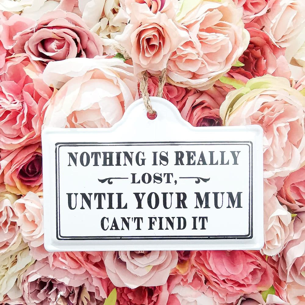 Nothing Is Really Lost, Until Your Mum Can't Find It Plaque