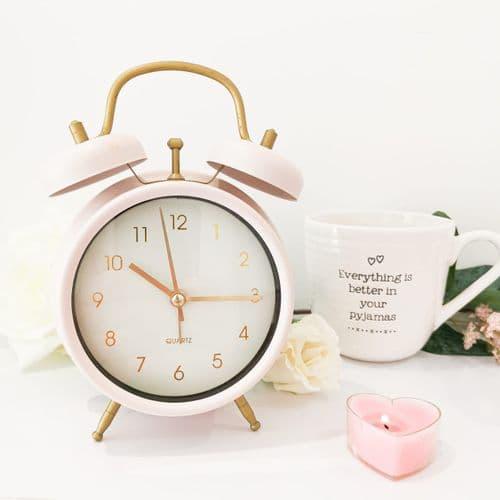 Pastel Pink Alarm Clock