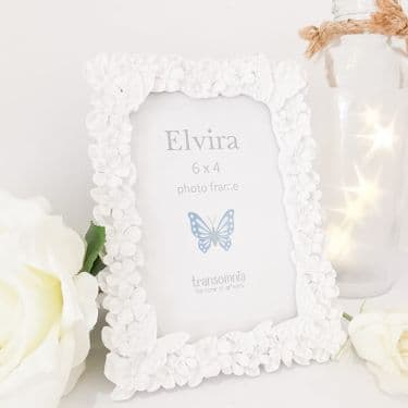 White Butterfly Photo Frame