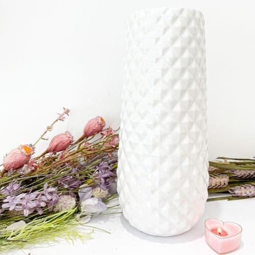 White Lustre Vase
