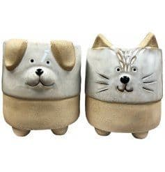 Cat or Dog Planters - 2 Designs