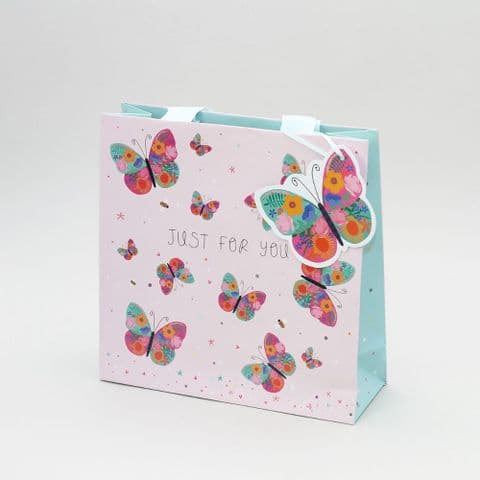 Just For You Butterfly Medium Gift Bag