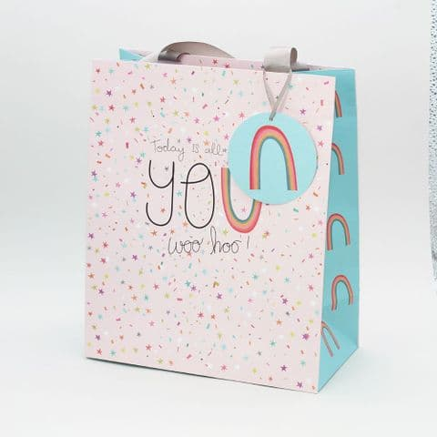 Large Portrait Gift Bag  - All About You Sprinkles