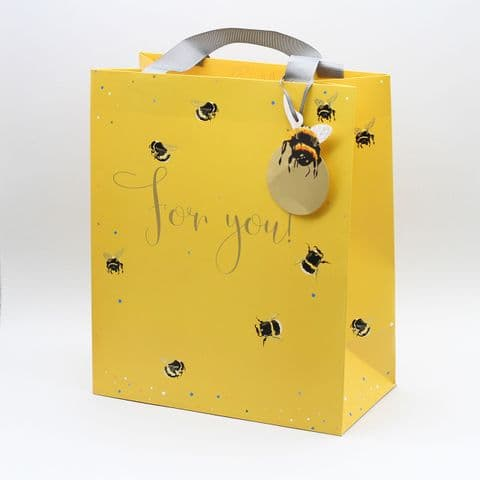 Large Portrait Gift Bag  - For You Yellow Bees