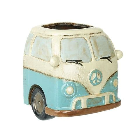 Quirky VW Campervan Ceramic Wall Planter - Indoor or Outside