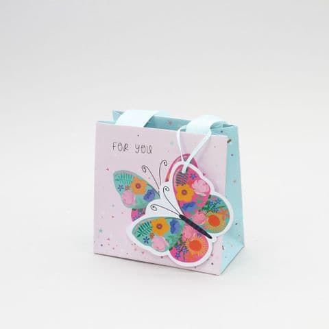 Small For You Butterfly Gift Bag