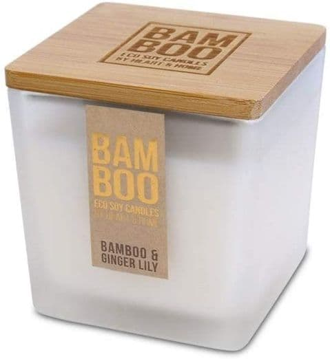 Small Jar Candle Bamboo And Ginger Lily Fragrance - Bamboo Range