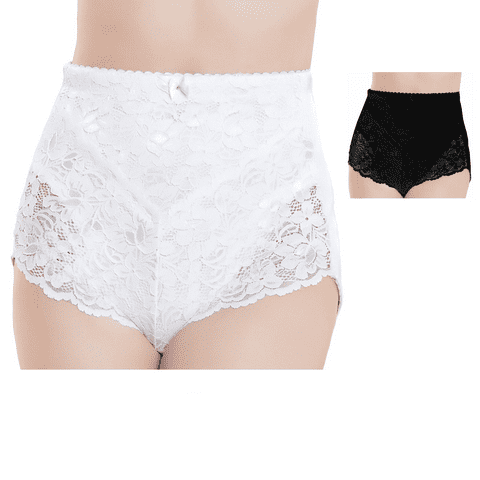 LACE MEDIUM CONTROL BRIEFS, KNICKERS, SHAPEWEAR