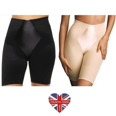 LONG LEG SHAPEWEAR SLIMMING SHORTS PULL ON FIRM CONTROL TUMMY HIPS THIGHS
