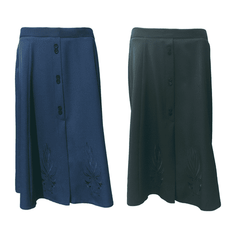 """TRADITIONAL SKIRT, CLASSIC EMBROIDERED, 27"""" LENGTH"""