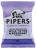 Piper Crisps 24 x 40gm Atlas Mountains Wild Thyme and Rosemaery