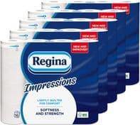 Regina Impressions 3 ply toilet roll 1 mile 80 pack