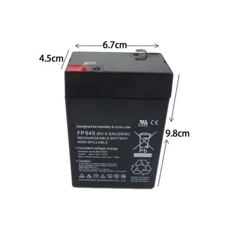6v-4.5ah Rechargeable Battery for Ride on Electric Cars Jeeps Quads