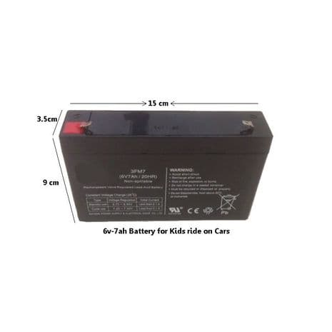 6v-7ah Rechargeable Battery for Ride on Electric Cars Jeeps Quads