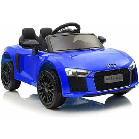 Audi R8 Spyder Compact 12v Licensed Ride on Kids Car with Remote Control - Blue