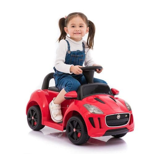 Electric 6v Jaguar Ride on Kids Foot to Floor Car with Remote Control - Red