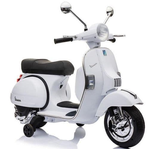 Licensed Vespa PX150 12v Electric Ride on Children's Bike - White