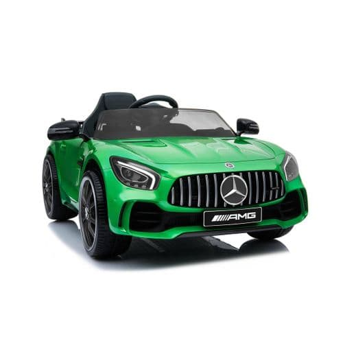 Mercedes Benz GTR Electric Ride on Kids Sports Car - 12V - Green