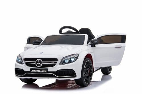 Mercedes C63 AMG 12v Ride on Kids Electric Car With Remote - White