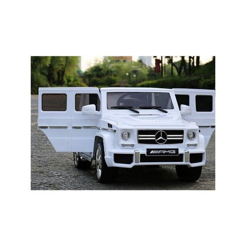 Mercedes G63 SUV 12v Electric Ride On Jeep with Remote - White