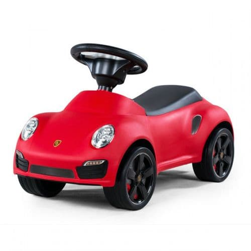 Porsche 911 Push Along Foot to Floor Kids Ride on Car - Red