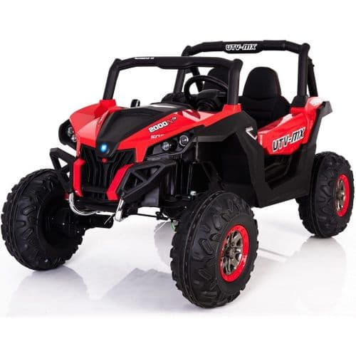 UTV MX2000 24v Twin Seats 4WD All Terrain Kids Ride on Buggy Quad - Red
