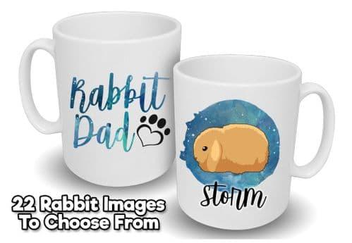 Personalised 'Rabbit Dad' Mug with Name & Image