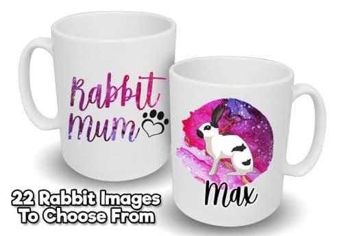 Personalised 'Rabbit Mum' Mug with Name & Image
