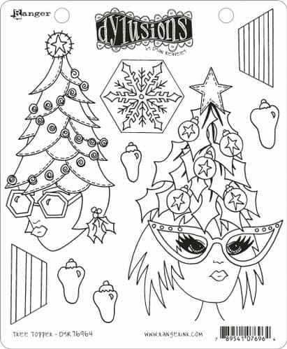 *Dylusions - Rubber Stamps - Tree Topper