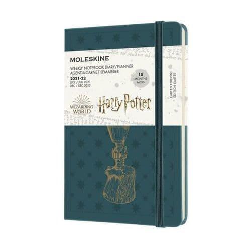*Moleskine - Harry Potter 2022 18 Month Weekly Planner Pocket - Green
